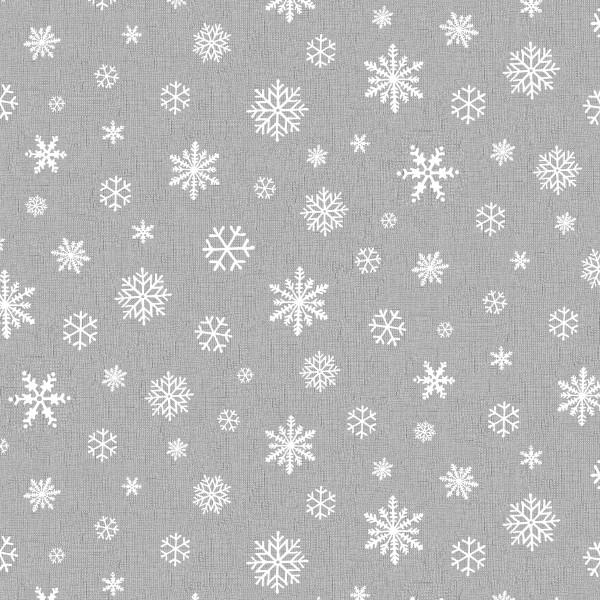 Tischläufer Miami Druck Snowflake Anthracite White 40/150