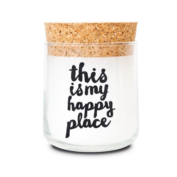 Duftkerzenglas - Happy place