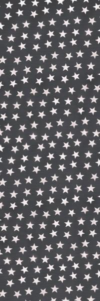 Tischläufer Miami Druck Little Stars Anthracite White 40/150