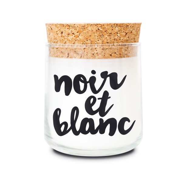 Duftkerzenglas - Noir et Blanc