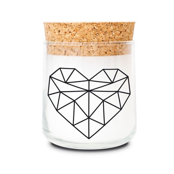 Duftkerzenglas - Geometric Heart