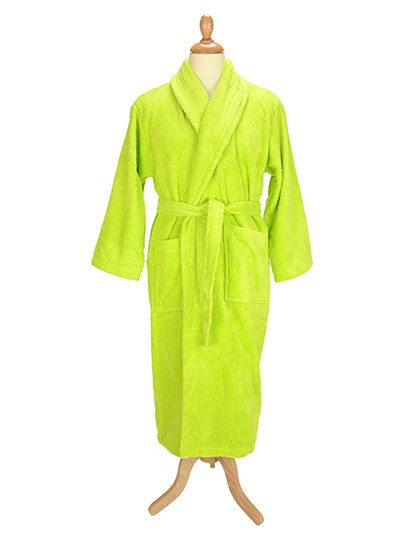 A&R Bademantel mit Schalkragen Lime Green