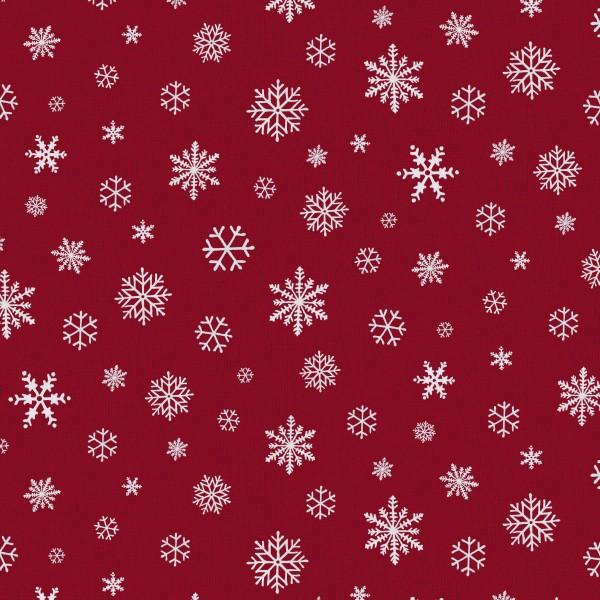 Tischläufer Miami Druck Snowflake Red White 40/150
